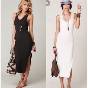 Free People Rib and Lace Intimately Slip Dress